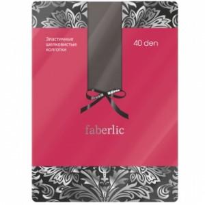 Еластични копринени чорапогащи, цвят сив, 40 den